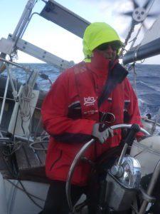 first trans Atlantic crossing - Bill at sea