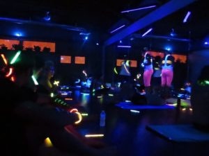 Black light yoga